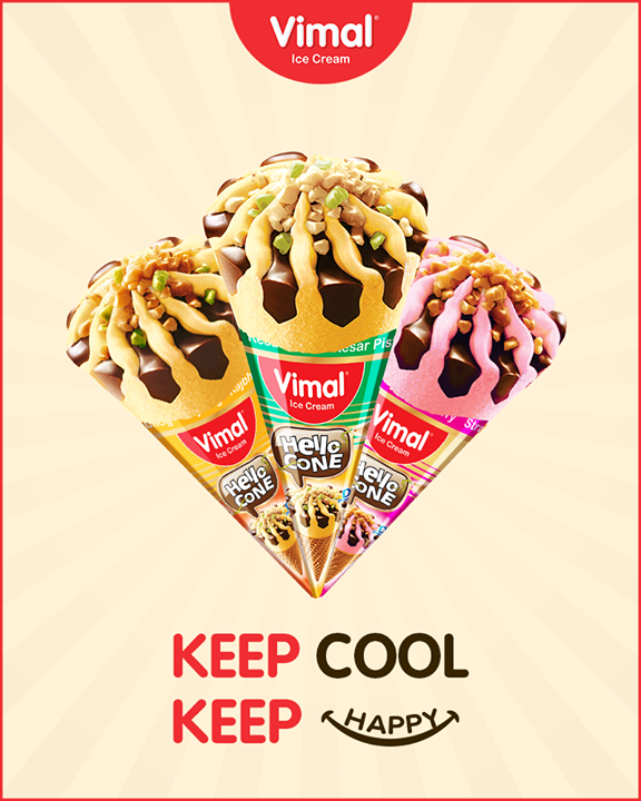 New cones from Vimal Ice Cream to keep you cool & happy during summers  #Cones #SummerTime #IcecreamTime #IceCreamLovers #Vimal #IceCream #VimalIceCream #Ahmedabad