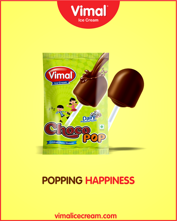 Experience the small joys in life with choco pop by Vimal Ice Cream.  #SummerTime #IcecreamTime #MeltSummer #IceCreamLovers #FrostyLips #Vimal #IceCream #VimalIceCream #Ahmedabad