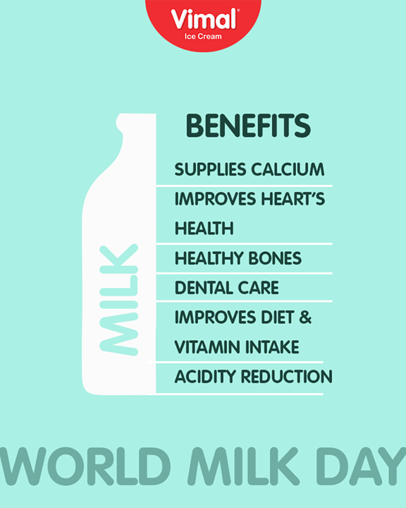Milk is mandatory for your good health.    #WorldMilkDay #MilkBenefits #Vimal #IceCream #VimalIceCream #Ahmedabad