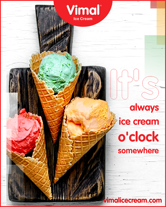 There's always time for ice cream.  #SummerTime #IcecreamTime #MeltSummer #IceCreamLovers #FrostyLips #Vimal #IceCream #VimalIceCream #Ahmedabad