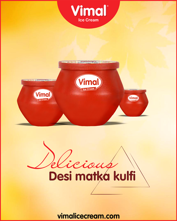 Enjoy the desi delight, desi matka kulfi from Vimal Ice Cream.   #MatkaKulfi #SummerTime #IcecreamTime #MeltSummer #IceCreamLovers #FrostyLips #Vimal #IceCream #VimalIceCream #Ahmedabad