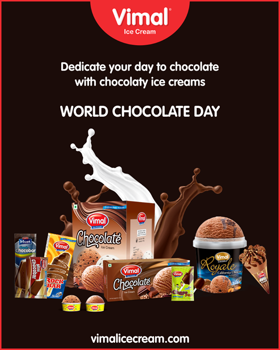 Vimal Ice Cream,  WorldChocolateDay, ChocolateLovers, ChocolateIcecreams, IcecreamTime, IceCreamLovers, Vimal, IceCream, VimalIceCream, Ahmedabad
