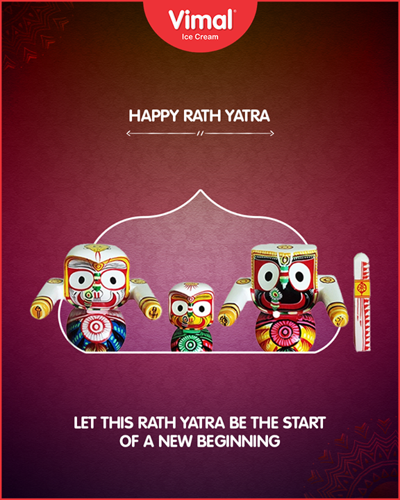 Let this RathYatra be the start of new beginnings!   #RathYatra2018 #RathYatra #LordJagannath #FestivalOfChariots #Spirituality