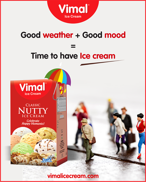 Pleasant weather and good mood is all you need to have Vimal Ice Cream.  #Monsoon #IcecreamTime #IceCreamLovers #FrostyLips #Vimal #IceCream #VimalIceCream #Ahmedabad