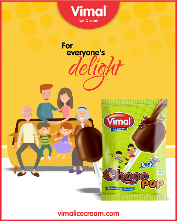 Who does not love ice cream and lollipop? Treat yourself to both at the same time with Vimal Ice Cream's Chocopop.  #Lollipop #IcecreamTime #IceCreamLovers #FrostyLips #Vimal #IceCream #VimalIceCream #Ahmedabad