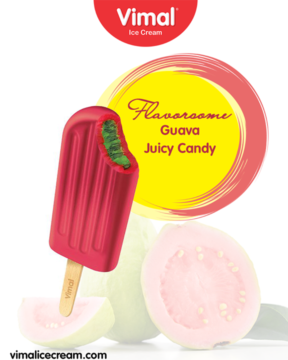 What are you waiting for ice-cream lovers? Come to savor the delightful candies of Vimal Ice Cream   #VimalIceCream #GuavaJuicyCandy #JuicyCandy #Candy #Candies #Icecream #IcecreamLovers #LoveForIcecream #IcecreamIsBae #LoveForCandy #Ahmedabad #Gujarat #India
