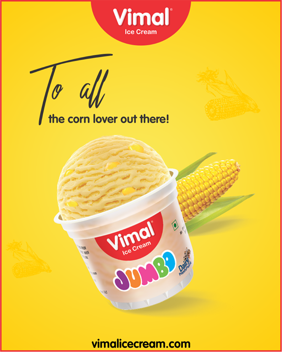 Utterly delicious American sweet corn ice-cream!  #Icecream #IcecreamLovers #LoveForIcecream #IcecreamIsBae #Ahmedabad #Gujarat #India #VimalIceCream