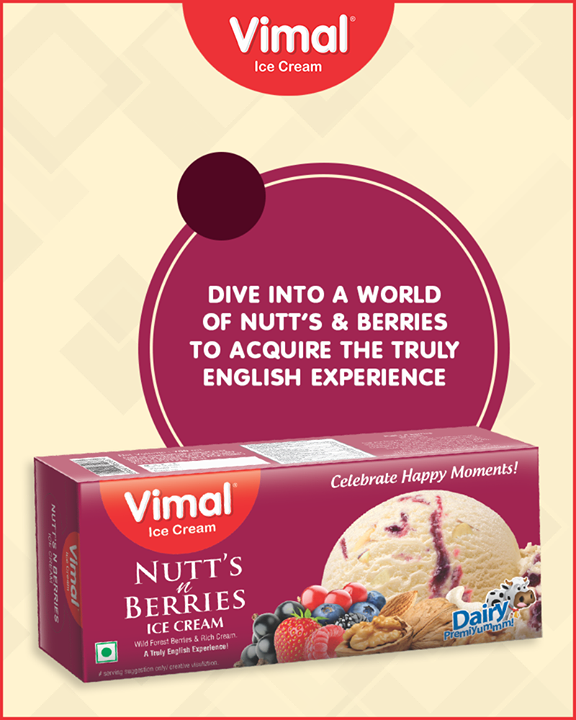 This Diwali, relish the yummilicious Nutt's n Berries Ice Cream with your loved ones.   #Icecream #IcecreamLovers #LoveForIcecream #IcecreamIsBae #Ahmedabad #Gujarat #India #VimalIceCream
