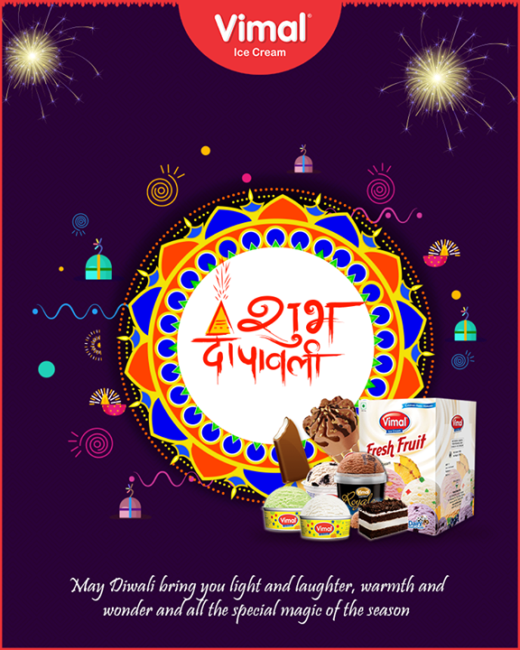 May Diwali bring you light & laughter, warmth & wonder & all the special magic of the season!  #Icecream #IcecreamLovers #LoveForIcecream #IcecreamIsBae #Ahmedabad #Gujarat #India #VimalIceCream #HappyDiwali #IndianFestivals #Celebration #Diwali #Diwali2018 #FestivalOfLight #DiwaliIsHere #FestivalOfJoy