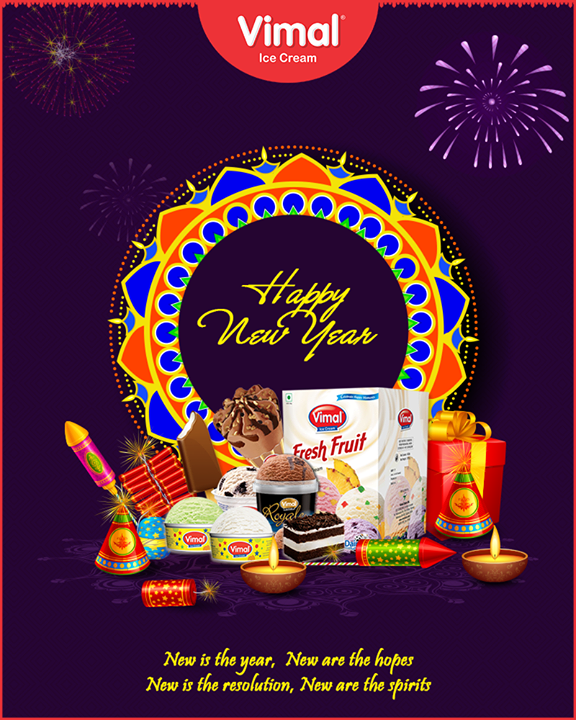 New is the year, New are the hopes, New is the resolution, New are the spirits.  #NewYear #HappyNewYear #IndianFestivals #Celebration #Diwali2018 #SaalMubarak #FestivalOfLight #FestivalOfJoy #FestiveSeason #Icecream #IcecreamLovers #LoveForIcecream #IcecreamIsBae #Ahmedabad #Gujarat #India #VimalIceCream