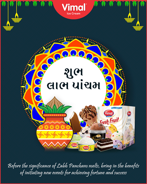 Warm wishes on the pious occasion of Labh Pancham!  #HappyLabhPancham #ShubhLabhPancham #LabhPancham #Celebration #FestiveSeason #IndianFestivals #FestiveSeason #Icecream #IcecreamLovers #LoveForIcecream #IcecreamIsBae #Ahmedabad #Gujarat #India #VimalIceCream