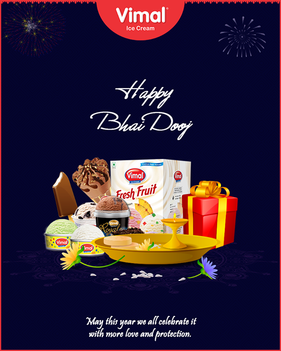 May this year we all celebrate it with more love and protection.   #BhaiDooj #Diwali2018 #Celebration #FestiveSeason #IndianFestivals #BrotherSister #HappyBhaiDooj #Icecream #IcecreamLovers #LoveForIcecream #IcecreamIsBae #Ahmedabad #Gujarat #India #VimalIceCream