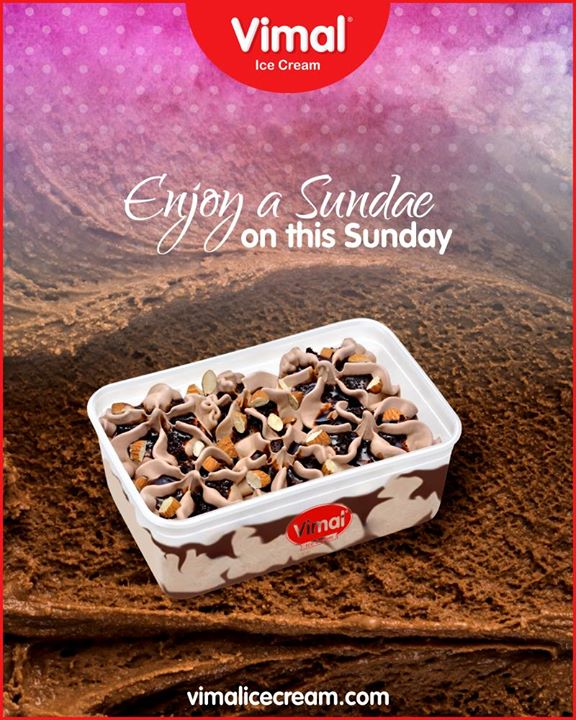 What works better than enjoying a delicious and creamy sundae on this Sunday?  #VimalIceCream #Icecream #IcecreamLovers #LoveForIcecream #IcecreamIsBae #Ahmedabad #Gujarat #India