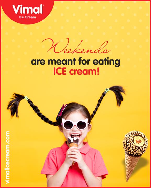 It's always fun to have #icecream just like a little #kid!  #WeekendModeOn #WeekendMode #VimalIceCream #IceCreamLove  #LoveForIcecream #IcecreamIsBae #Ahmedabad #Gujarat #India