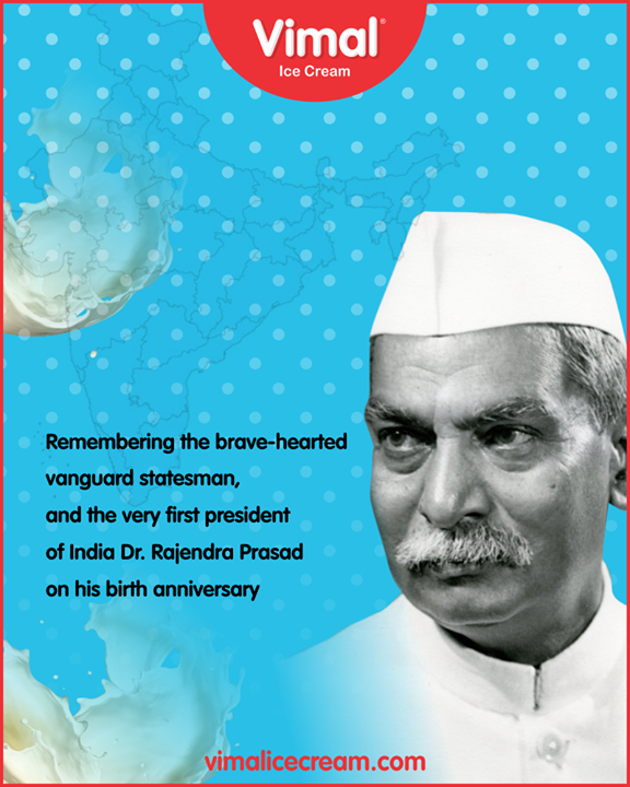 Remembering the legendary Dr. #RajendraPrasad on his birth anniversary!  #VimalIceCream #Gujarat #Ahmedabad