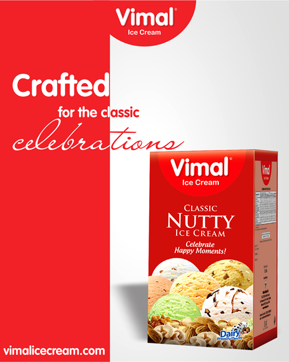 Make your every moment worth remembering & merrier with the #ClassicNuttyIceCream.   #VimalIceCream  #Icecream #IcecreamLovers #LoveForIcecream #IcecreamIsBae #Ahmedabad #Gujarat #India