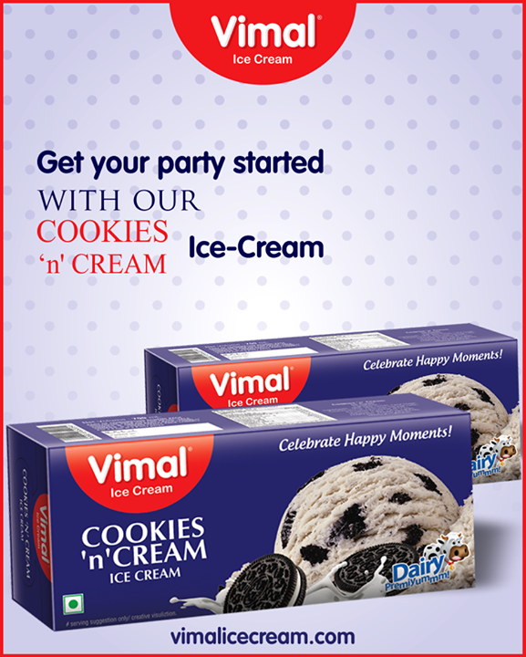 Roll up your party with our Cookies 'n' Cream extravaganza!     #VimalIceCream #Icecream #IcecreamLovers #LoveForIcecream #IcecreamIsBae #Ahmedabad #Gujarat #India