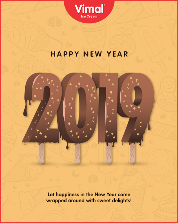 Vimal Ice Cream,  NewYear, NewYear2019, HappyNewYear, 2K19, VimalIceCream, IceCreamLove, LoveForIcecream, IcecreamIsBae, Ahmedabad, Gujarat, India
