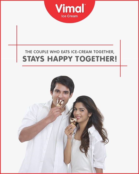 Want to know the secret behind a happy married life? Eat our Ice-Cream daily & celebrate each moment jovially!   #Celebrations #Icecream #IcecreamLovers #LoveForIcecream #IcecreamIsBae #Ahmedabad #Gujarat #India #VimalIceCream