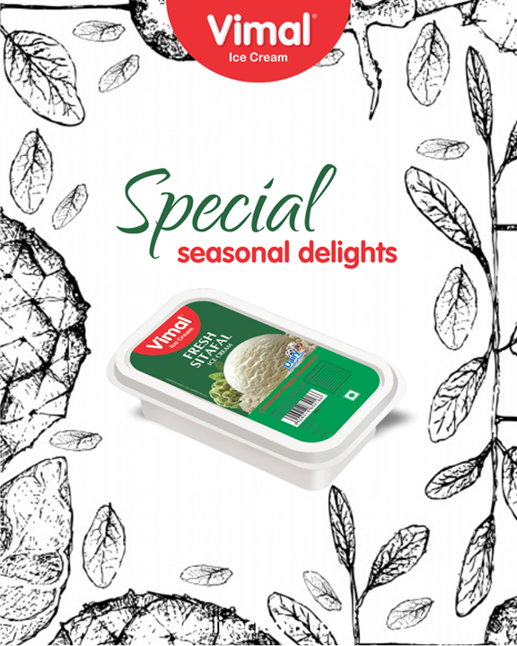 Calling all #Sitafal lovers, dig in on our seasonal specials!  #Celebrations #Icecream #IcecreamLovers #LoveForIcecream #IcecreamIsBae #Ahmedabad #Gujarat #India #VimalIceCream
