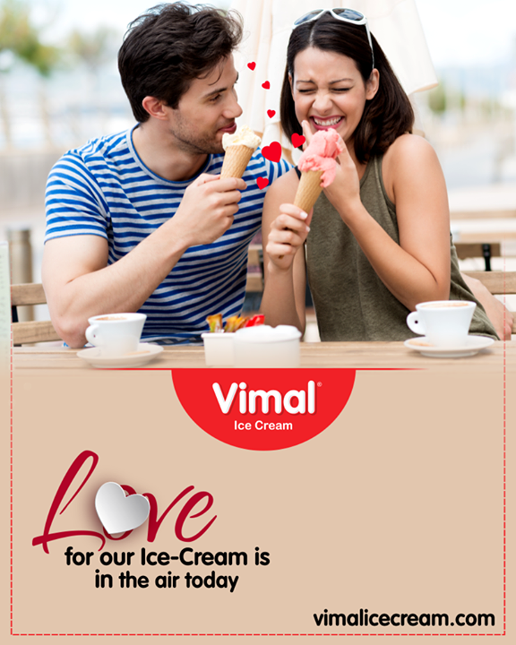 The couple, who gulps Ice-Cream together, stays together!   #Celebrations #Icecream #IcecreamLovers #LoveForIcecream #IcecreamIsBae #Ahmedabad #Gujarat #India #VimalIceCream