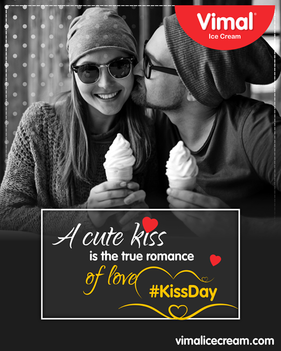 Happy Kiss Day to all the people in love!   #ValentinesDay #ValentineSpecial #Celebrations #Icecream #IcecreamLovers #LoveForIcecream #IcecreamIsBae #Ahmedabad #Gujarat #India #VimalIceCream