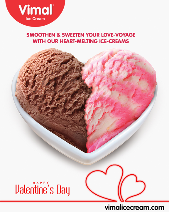 Smoothen & sweeten your love voyage with our heart melting ice-creams!   #IcecreamLovers #LoveForIcecream #IcecreamIsBae #Ahmedabad #Gujarat #India #VimalIceCream #Valentines2019 #ValentinesDay #Valentines #DayOfLove #ValentinesDay2019