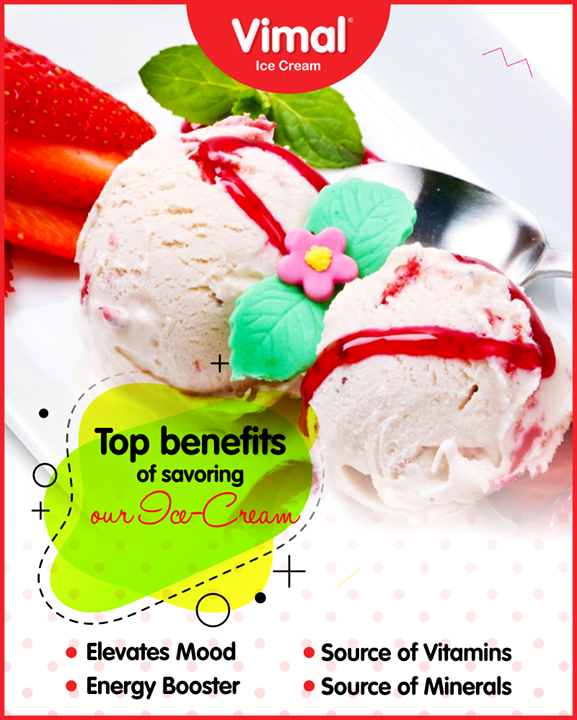 Check out the surprising yet proven benefits of savoring our Ice-Cream!    #Celebrations #Icecream #IcecreamLovers #LoveForIcecream #IcecreamIsBae #Ahmedabad #Gujarat #India #VimalIceCream
