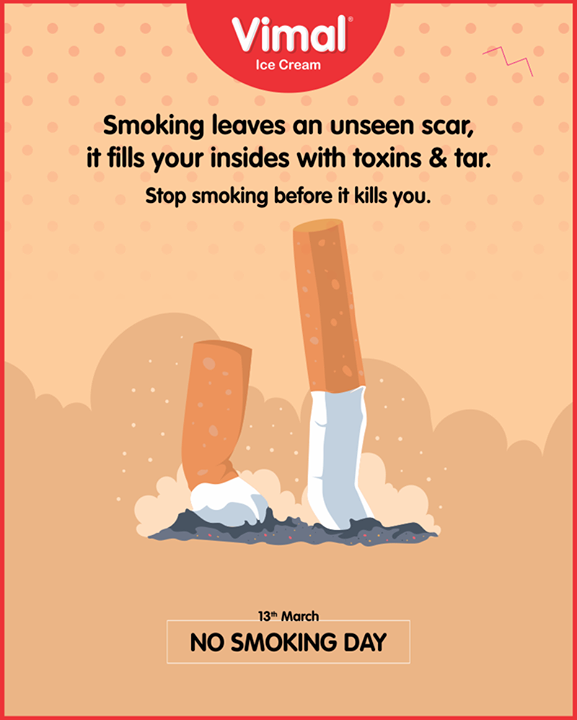 Stop smoking before it kills you  #NoSmokingDay‬ #QuitSmoking #Icecream #IcecreamLovers #LoveForIcecream #IcecreamIsBae #Ahmedabad #Gujarat #India #VimalIceCream