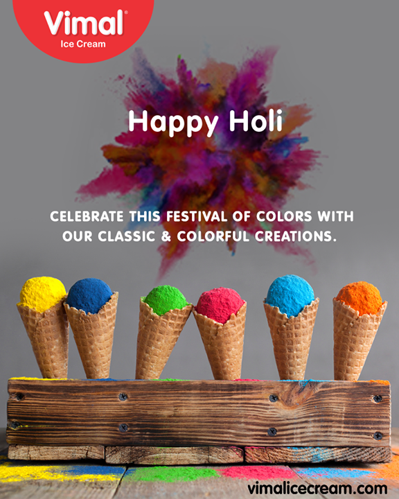 Celebrate the festival of colors with our classic creations!   #HappyHoli2019 #HappyHoli #होली  #Holi #IndianFestival #FestivalOfColour #VimalIceCream #Ahmedabad #Gujarat #India