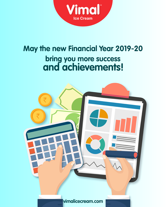 May the new Financial Year 2019-20 brings you more success & achievements!  #FinancialYear #NewFinancialYear #Celebrations #Icecream #IcecreamLovers #LoveForIcecream #IcecreamIsBae #Ahmedabad #Gujarat #India #VimalIceCream