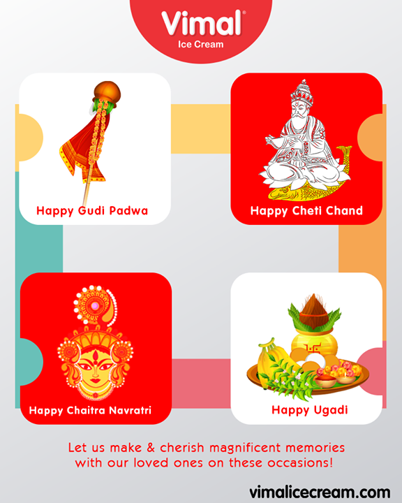 Vimal Ice Cream,  ChaitraNavratri, HappyNavratri, GudiPadwa, ChetiChand, HappyUgadi, IndianFestival, VimalIceCream, Celebrations, Icecream, IcecreamLovers, LoveForIcecream, IcecreamIsBae, Ahmedabad, Gujarat, India