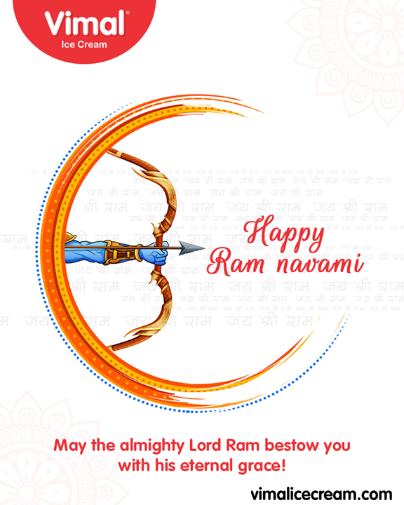 May the almighty Lord Ram bestow you with his eternal grace!  #RamNavami #रामनवमी  #JaiShriRam #RamNavami2019 #HappyRamNavami #IndianFestival #Celebrations #Icecream #IcecreamLovers #LoveForIcecream #IcecreamIsBae #Ahmedabad #Gujarat #India #VimalIceCream