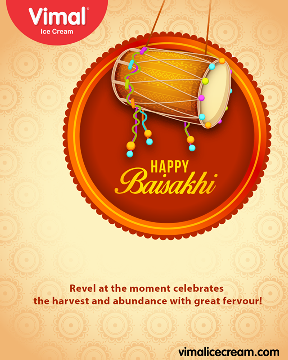 Revel at the moment celebrates the harvest and abundance with great fervour!  #Baisakhi #Baisakhi2019 #HappyBaisakhi2019 #IndianFestival #Celebrations #Icecream #IcecreamLovers #LoveForIcecream #IcecreamIsBae #Ahmedabad #Gujarat #India #VimalIceCream
