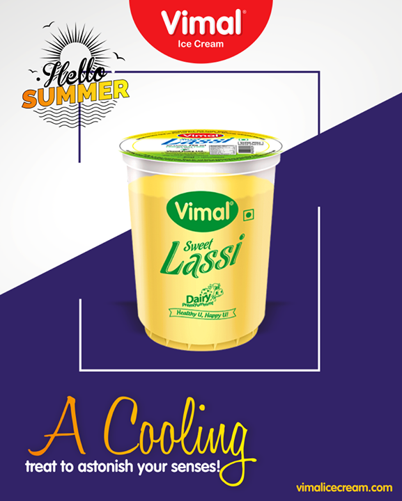 Added with tinges of love & sweetness; feel the winter vibes in summer with this refreshing Sweet Lassi.   #SweetLassi #IcecreamTime #IceCreamLovers #FrostyLips #Vimal #IceCream #VimalIceCream