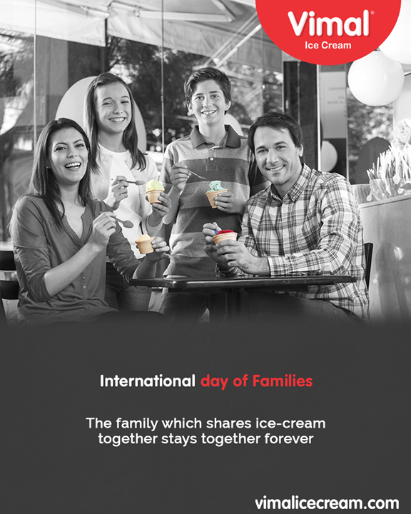 The family which shares ice-cream together stays together forever.   #InternationalDayofFamilies #IceCreamLovers #FrostyLips #Vimal #IceCream #VimalIceCream