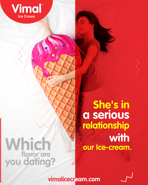 Tell us, which flavor are you dating?   #IcecreamTime #IceCreamLovers #FrostyLips #Vimal #IceCream #VimalIceCream #Ahmedabad