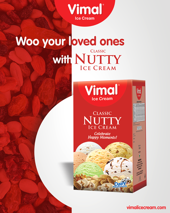 Spend a dreamy evening & woo your loved ones with the yummy Classic Nutty Ice-cream of Vimal Ice Cream!   #VimalIcecream #ClassicNuttyIcecream #FrostyLips #IceCream #LoveForIcecream #Ahmedabad #Gujarat #India