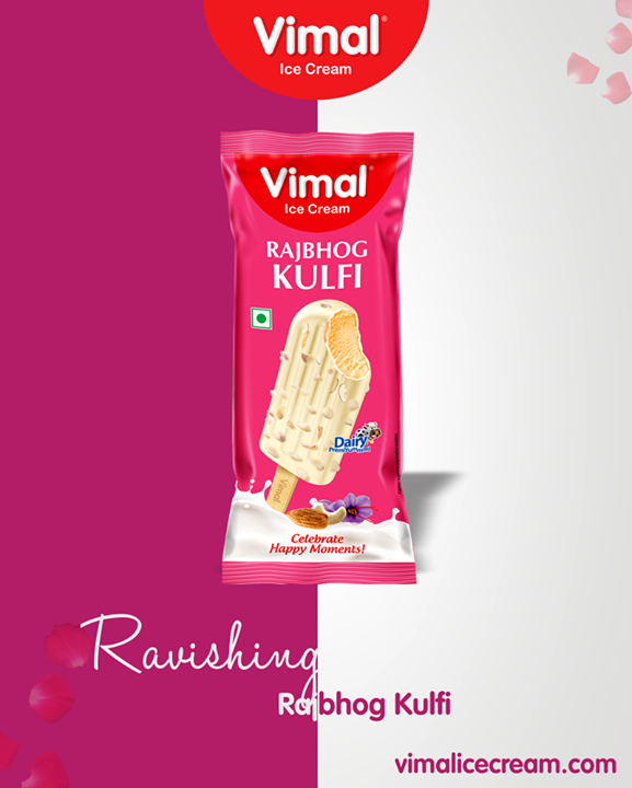 Celebrate happy moments with the ravishing Rajbhog Kulfi of Vimal Ice Cream!   #SummerMadness #SummerFlavors #SummerTime #LoveForIcecream #IcecreamTime #IceCreamLovers #FrostyLips #Vimal #IceCream #VimalIceCream #Ahmedabad