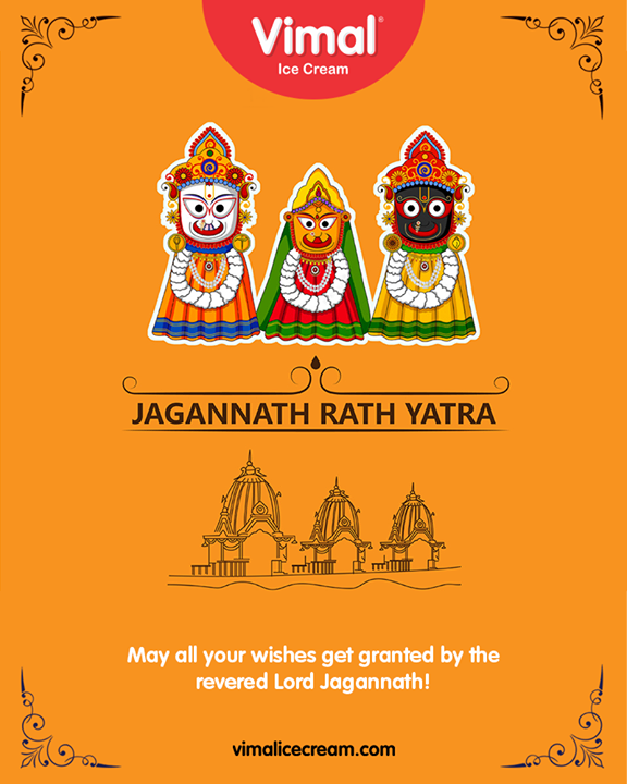 May all your wishes get granted by Lord Jagannath!  #Happiness #LoveForIcecream #IcecreamTime #IceCreamLovers #FrostyLips #Vimal #IceCream #VimalIceCream #Ahmedabad #LordJagannath #JaiJagannath #RathYatra2019 #Amdavad #WorldHeritageCity #IncredibleIndia #MarathonOfTheWalledCity #FestivalOfChariots #Spirituality
