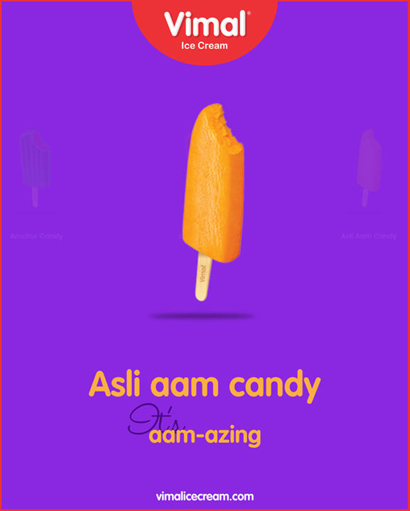 Savour the moments and treat your with the asli aam candy that's simply aam-azing!  #Monsoon #LoveForMonsoon #Rains #Happiness #LoveForIcecream #IcecreamTime #IceCreamLovers #FrostyLips #Vimal #IceCream #VimalIceCream #Ahmedabad