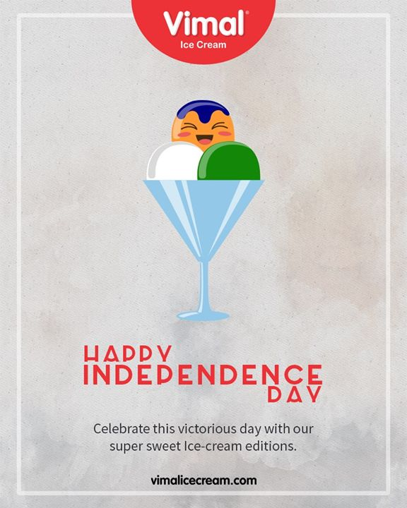 Celebrate this victorious day with our super sweet Ice-cream editions.   #HappyIndependenceDay #IndependenceDay19 #IndependenceDay #IndependenceWeek #Celebration #15thAugust #Freedom #India #Vimal #IceCream #VimalIceCream #Ahmedabad