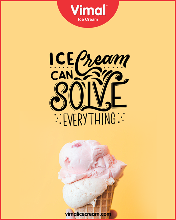 Ice-cream can solve everything!   #VimalIceCream #IceCreamCake #Icecream #IcecreamLovers #LoveForIcecream #IcecreamIsBae #Ahmedabad #Gujarat #India