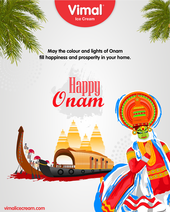 May the colour and lights of Onam fill happiness and prosperity in your home.  #HappyOnam #Onam #Onam2019 #VimalIceCream #IceCreamCake #Icecream #IcecreamLovers #LoveForIcecream #IcecreamIsBae #Ahmedabad #Gujarat #India