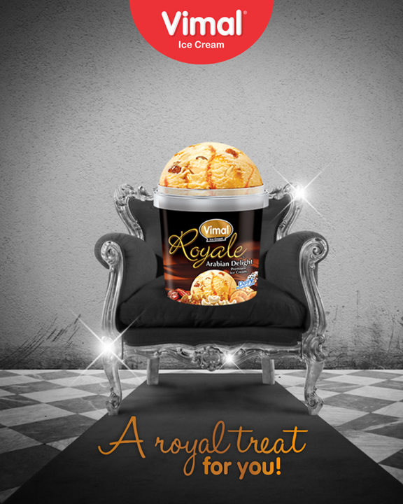 Spoil your taste buds with some royalty of Royale Arabian Delight! #Happiness #LoveForIcecream #IcecreamTime #IceCreamLovers #FrostyLips #Vimal #IceCream #VimalIceCream #Ahmedabad
