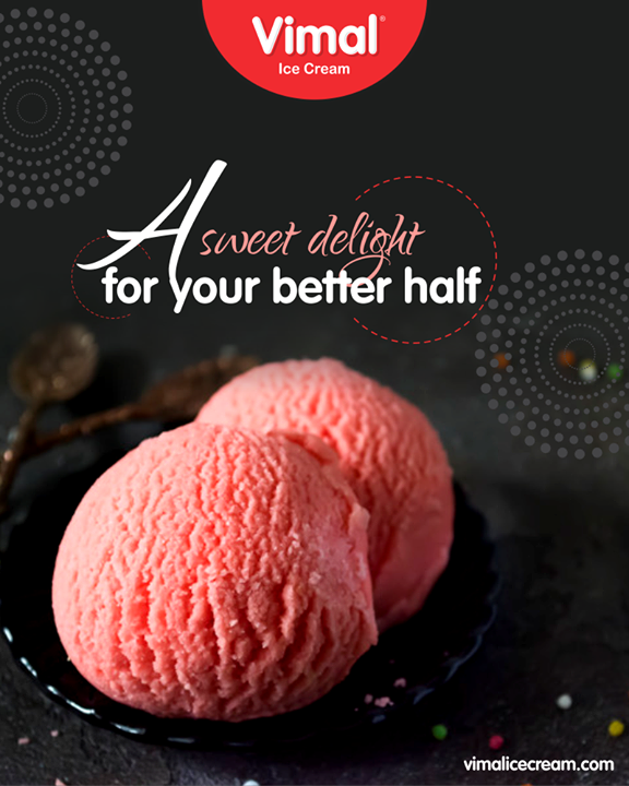 Vimal ice-cream; A sweet delight for your better half!  #Happiness #LoveForIcecream #IcecreamTime #IceCreamLovers #FrostyLips #Vimal #IceCream #VimalIceCream #Ahmedabad