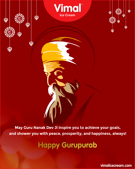 May Guru Nanak Dev Ji inspire you to achieve your goals, and shower you with peace, prosperity, and happiness, always!  #GuruNanakJayanti #GuruPurab #VimalIceCream #Happiness #LoveForIcecream #IcecreamTime #IceCreamLovers #FrostyLips #Vimal #IceCream #Ahmedabad