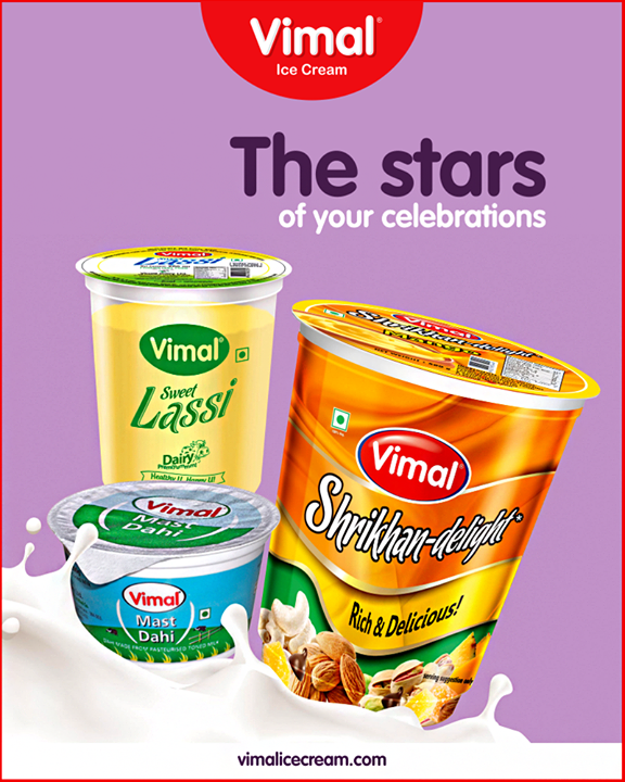 Meet the stars of your celebrations!  #Happiness #LoveForIcecream #IcecreamTime #IceCreamLovers #FrostyLips #Vimal #IceCream #VimalIceCream #Ahmedabad