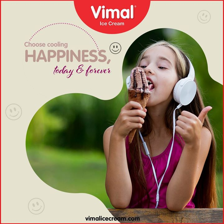 Choose cooling happiness, today & forever.  Raise your hands if ice-cream truly makes you happy!  #VimalIceCream #Icecreamisbae #Happiness #LoveForIcecream #IcecreamTime #IceCreamLovers #FrostyLips #Vimal #IceCream #Ahmedabad