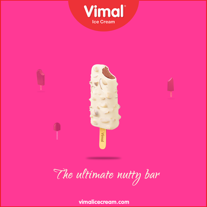 Vimal nutty bar is well known for its incredibly delicious taste!  #VimalIceCream #Icecreamisbae #Happiness #LoveForIcecream #IcecreamTime #IceCreamLovers #FrostyLips #Vimal #IceCream #Ahmedabad